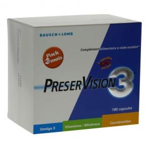 Bausch & Lomb Preservision 3 complément alimentaire à visée oculaire 180 capsules