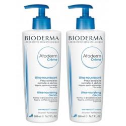 Bioderma Atoderm crème nourrissante peaux sèches duo 500ML