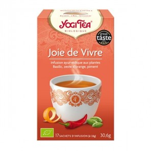 Yogi tea tisane ayur joie de vivre 17 sachets