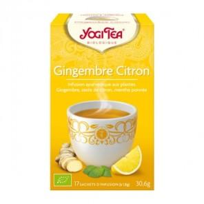 Yogi tea infusion gingembre citron 17 sachets