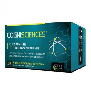 Santé Verte cognisciences amélioration mémoire et concentration 60 comprimés