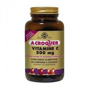 Solgar vitamine C 500mg à croquer saveur framboise 90 comprimés