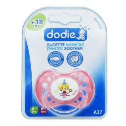 Dodie sucette silicone +18 mois fille 1 sucette