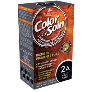 3 Chênes Color&Soin brune azuré coloration permanante 2A