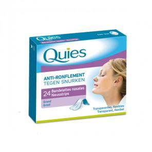 Quies anti-ronflement 24 bandelettes nasales petit