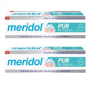Meridol pur dentifrice lot de 2