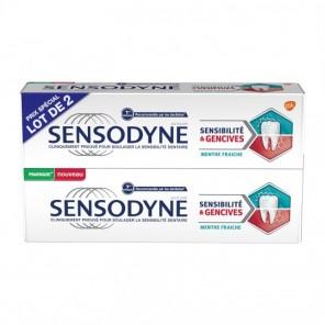 Sensodyne sensibilité&gencives menthe fraîche 2x75ml