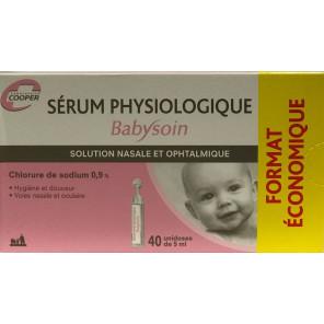 BABYSOIN SERUM PHYSIOLOGIQUE 40 UNIDOSES