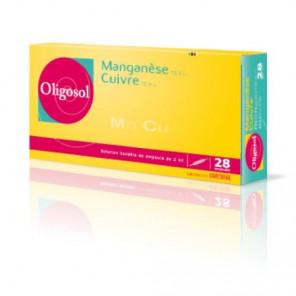 OLIGOSOL MANGANESE CUIVRE 28 AMPOULES