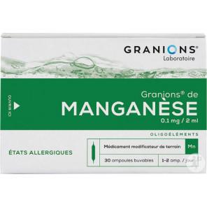 Granions® Manganèse 30 ampoules 2ml