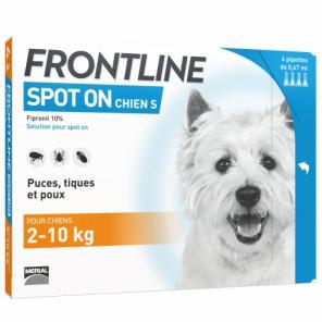 Frontline spot on chiens 2 à 10 kg 4 pipettes