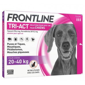 FRONTLINE TRI ACT CHIENS 20-40KG 3 PIPETTES