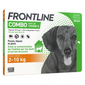 FRONTLINE COMBO CHIEN S 2-10KG 6 PIPETTES