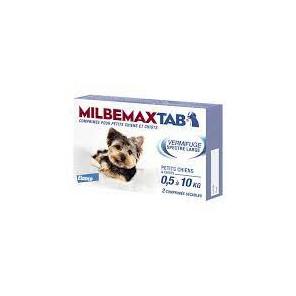 Milbemax tab chiots de 0,5 à 10kg 2 comprimés