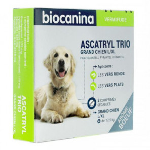 BIOCANINA ASCATRYL TRIO GRAND CHIEN 2 COMPRIMES