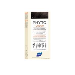 Phyto Color Coloration Soin Permanente Haute Brillance aux Pigments Végétaux Chatain Clair