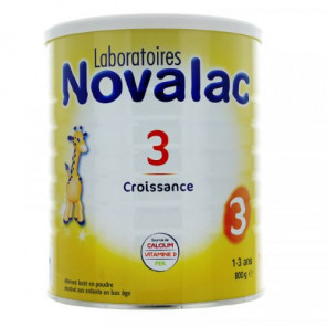 Novalac lait croissance 3ème âge 1 à 3 ans 800g