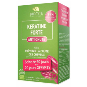 Biocyte keratine forte anti-chute cheveux 3 x 40 gélules