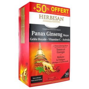Herbesan ginseng + gelée royale 30 ampoules