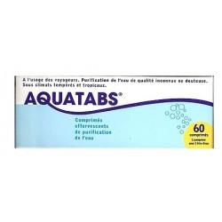 Aquatabs purification de l'eau 60 comprimés